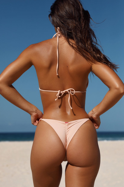 Blush Triangle Bikini On a Chain Top & Blush Cheeky Micro Bikini On a Chain Bottom