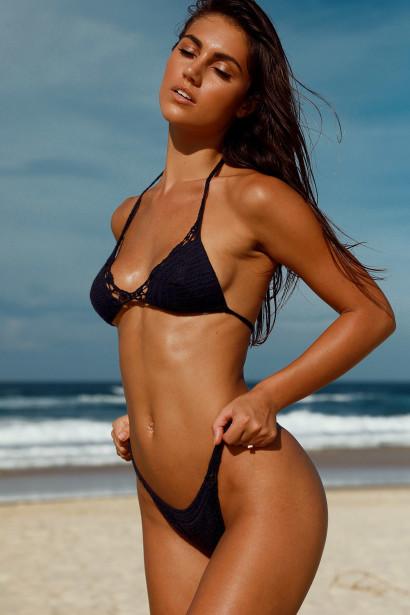 Hyacinth Black Bikini Top & Rosemary Black Bikini Bottom