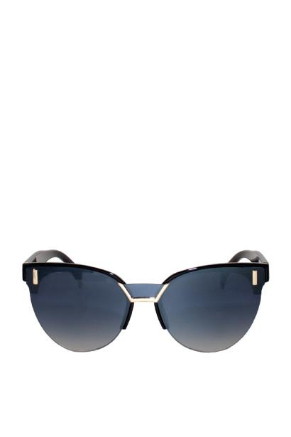 Daydream Black Rimless Bottom Cat-Eye Sunglasses