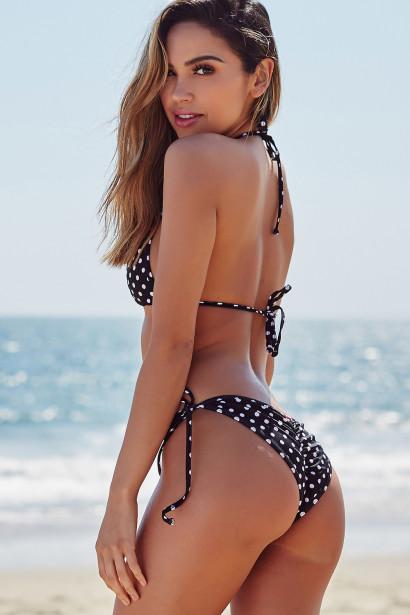 Laguna Black Polka Dot Classic Triangle Top & Panama Black Polka Dot Classic Bikini Bottom