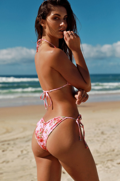 Laguna Blush Rose Classic Bikini Top & Panama Blush Rose Classic Bikini Bottoms