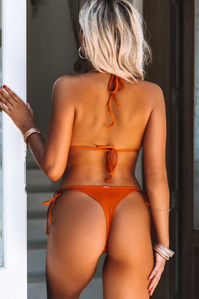 Rust Triangle Top & Rust Brazilian Thong Bottom