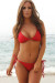 Manhattan Sexy Red Bikini Top & Single Rise Scrunch Bottom Swimsuit