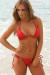 Venice Solid Red Triangle Bikini Top & Sexy Micro Scrunch Bottom Swimsuit