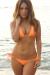 Venice Solid Neon Orange Triangle Bikini Top & Sexy Cheeky Micro Scrunch Bottom Swimsuit