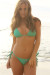 Venice Solid Emerald Triangle Bikini Top & Sexy Micro Scrunch Bottom Swimsuit