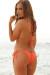 Venice Coral Orange Triangle Bikini Top & Sexy Micro Scrunch Bottom Swimsuit