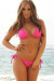 Venice Solid Fuchsia Triangle Bikini Top & Sexy Micro Scrunch Bottom Swimsuit