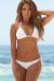 San Pedro Solid White Triangle Top Classic Scrunch Up® Sexy Swimwear