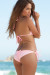 San Pedro Solid Baby Pink Triangle Top Classic Scrunch Up® Sexy Swimwear