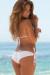 Malibu Solid White Triangle Top Double Rise Scrunch Up® Sexy Swimwear