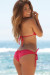 Malibu Solid Red Triangle Top Double Rise Scrunch Up® Sexy Swimwear
