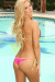 Vegas Gold & Fuchsia Triangle Top & Micro Scrunch Bottom Sexy Sequin Bikini