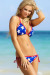 Lima Red, White & Blue Star Print Triangle Top Single Rise Scrunch Bun® Swimsuit