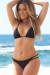 Newport Black Double Strap Single Rise Scrunch Bun® Bikini