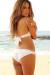 Vienna White & Silver Sequins Lace Band Scrunch Bun® Bridal Bikini