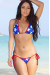Daytona Sexy Red, White & Blue Star Print Triangle Top Cheeky Micro Scrunch Bun® Swimsuit