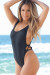 Los Angeles Black High Cut One Piece Scrunch Bun® Swimsuit
