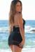 Jasmine Black Center Sun Mini Dress Crochet Cover Up