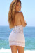 Jasmine White Center Sun Mini Dress Crochet Cover Up