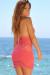 Jasmine Coral Center Sun Mini Dress Crochet Cover Up