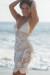 Freesia White Center Sun Scalloped Crochet Beach Cover Up