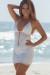 Malibu Cocktail White Sexy Cut Out Crochet Beach Dress