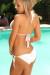Saffron White Crochet Scrunch Bottom Sexy Monokini Swimsuit