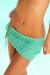 Tequila Sunset Emerald Green Mini Crochet Beach Skirt Cover Up