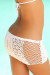 Tequila Sunset White Mini Crochet Beach Skirt Cover Up