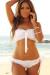 Bahamas Sexy White Ruffles & Ribbons Scrunch Bun® Lace Bridal Bikini