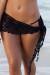 Cuba Libre Black Mini Crochet Sexy Sarong Beach Cover Up