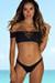 Black Plumeria Bikini Top & Black Wildflower Bikini Bottoms