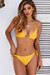 Yellow Ribbed Triangle Top & Yellow Ribbed Full Coverage Scrunch Bottom
