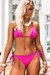 Fuchsia Triangle Top & Fuchsia Full Coverage Scrunch Bottom
