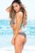 Belize Reversible Swimwear Mint & Leopard Print Sexy Single Rise Bikini