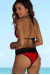 Red & Black Martinique Bikini Top & Maui Bikini Bottom