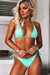 Mint Triangle Top & Mint Full Coverage Scrunch Bottom