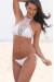 Gardenia White Halter Top & Sexy Micro Scrunch Bottom Crochet Bikini Swimsuit