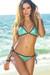 Vegas Mint & Black Triangle Top Single Rise Scrunch Bun® Sexy Sequin Bikini
