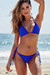 Royal Blue Triangle Top & Royal Blue Classic Scrunch Bottom