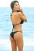 Brazil Bikini on a Chain™ Sexy Black Triangle Top & Micro Scrunch Bottom