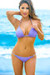 Oahu Bikini on a Chain™ Lilac Triangle Top & Single Rise Scrunch Bottom