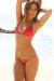 Brazil Bikini on a Chain™ Sexy Red Triangle Top & Micro Scrunch Bottom