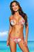 Belize Reversible Swimwear Fuchsia & Retro Floral Print Sexy Single Rise Bikini