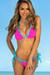 Laguna Pink Polka Dot & Aqua Classic Bikini Top & Panama Pink Polk Dot & Aqua Classic Bikini Bottom