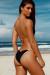 Black & Gold Triangle Bikini Top & Black & Gold Classic Scrunch Bikini Bottom