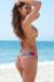 Ibiza Brazilian Cut Sunset Tropical Print Triangle Top Sexy Thong Bikini