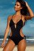 Cartagena Black Open Sided Sexy One Piece Bathing Suit