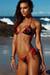 Laguna Red Floral Velvet & Red Classic Bikini Top & Venice Red Floral Velvet & Red Mid Rise Classic Bikini Bottoms